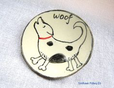 Dog Woof Candy Dish Ring or Jewelry Dish by GoldhawkPotteryEtc, $13.00