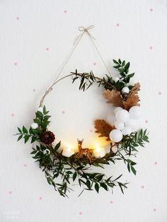 DIY : 12 couronnes de Noël modernes et minimalistes à fabriquer soi-même chez Oui Oui Oui Studio