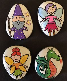 Kids love to use their imagination, which promotes thinking, creativity and speech. My story stones are painted rocks designed to fuel a childs imagination and creativity. They can use them to tell a story, pretend play, or carry around as pet rocks.  Story stones are great for group