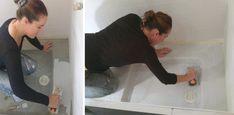 Du béton ciré pour la rénovation de notre salle de bain ! - Barnabé aime le café Alcove, Bathtub, Bathroom, Master Bathroom Vanity, Surfboard Wax, Standing Bath, Washroom, Bathtubs, Bath Tube
