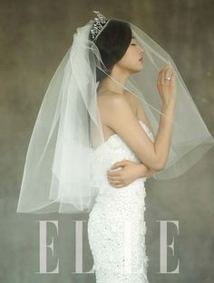 Jun Ji Hyun takes part in a wedding dress photo shoot for 'Elle' Magazine #allkpop #Fashion