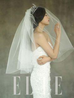 Jun Ji Hyun takes part in a wedding dress photo shoot for 'Elle' Magazine #allkpop #Fashion
