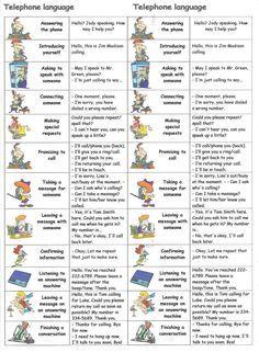 Telephone language  #learnenglish #englishlanguage  http://www.uniquelanguages.com/#/english-courses/4576881423