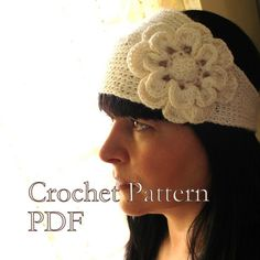 PATTERN  Headband With Flower Crochet Pattern by AbsoluteKnits, $5.00