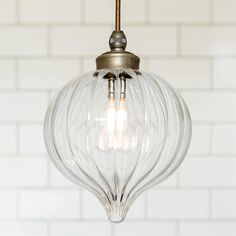Ava Bathroom Pendant Light | Fluted Glass | Period | Contemporary | Lighting
