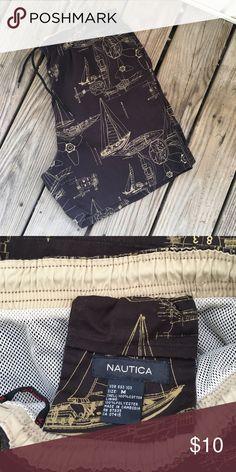 ⛵️⛵️ Nautica Swim Trunks ⛵️⛵️ ⛵️⛵️ Practically New ,wore one season 100 % cotton ⛵️⛵️ Nautica Swim Swim Trunks