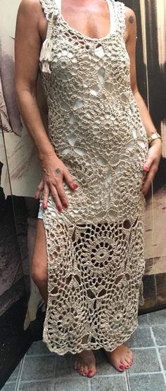 45 Ideas Crochet Sweater Dress Pattern Outfit For 2019 Hippie Crochet, Crochet Lace, Crochet Bikini, Crochet Summer, Crochet Cowl Free Pattern, Crochet Patterns, Crochet Baby Jacket, Crochet Woman, Crochet Slippers