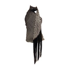 Alexander McQueen Black and White Halter with Fringe | From a collection of rare vintage shirts at https://www.1stdibs.com/fashion/clothing/shirts/