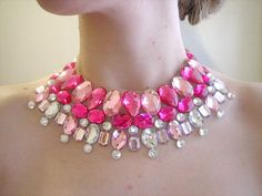 Bright Pink and Crystal AB Floating by SparkleBeastDesign on Etsy, $25.99