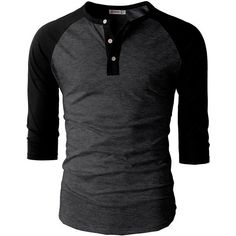 H2H Mens Casual Slim Fit Raglan Baseball Three-Quarter Sleeve Henley... ($11) ❤ liked on Polyvore featuring men's fashion, men's clothing, men's shirts, men's t-shirts, men, boy, shirts, mens three quarter sleeve shirts, mens t shirts and mens raglan t shirt #menst-shirtsfashion