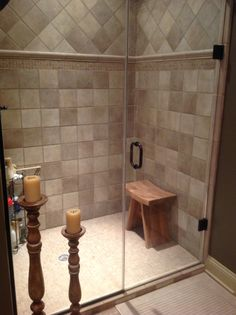 Porcelain U0026 Stone Tile Shower Love The Candles In Front Of The Shower