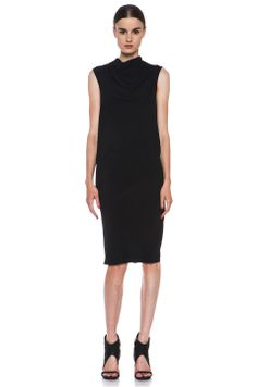 Rick Owens  Runway Bonnie Tunic Dress in Black
