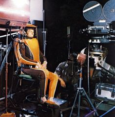 "Leonard Nimoy films his ""spacewalk"" scenes from ""Star Trek: The Motion Picture"""