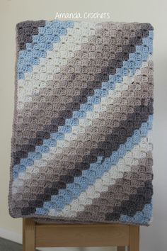 Today I'm sharing my corner-to-corner blanket pattern using Caron Baby Cakes yarn. This is a great beginner-friendly project using a fun stitch.