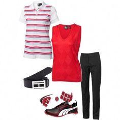 b75f8c07b Ladies Golf OOTD  Scarlet Red  amp  Black