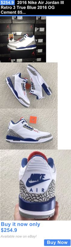 Men Shoes  2016 Nike Air Jordan Iii Retro 3 True Blue 2016 Og Cement 854262 16967ff25