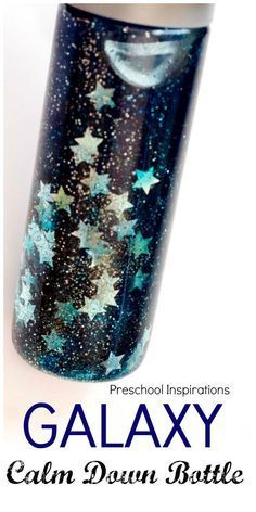 3 Ingredient Galaxy Calm Down Bottle - Preschool Inspirations Make a calm down bottle to help children relax and self-regulate. This galaxy calm down bottle is mesmerizing and an easy three ingredient sensory bottle. Sensory Bins, Sensory Activities, Sensory Play, Preschool Activities, Sensory Bottles For Toddlers, Sensory Boards, Sensory Rooms, Baby Sensory Bottles, Space Theme Preschool