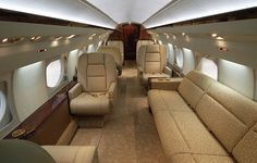 Luxury Aircraft Solutions - Heavy Jet Gulfstream III Available for Charter  www.LuxuryAircraftSolutions.com Gulfstream Iii, Executive Jet, Air Space, Cabin Crew, Car Seats, Aircraft, Private Jets, Luxury, Vip
