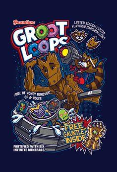 Groot Loops! 4X6 postcard, $5