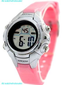 >> Click to Buy << ALEXIS Pink Chronograph BackLight Black Bezel Water Resist Ladies Girls Digital Watch  DW121I #Affiliate