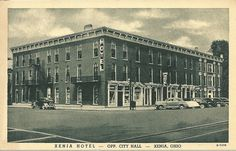 This is a postcard mailed out by the Xenia Hotel in Xenia Hotel, Xenia Ohio, Local History, Historical Photos, Arch, Louvre, Building, Places, Postcards