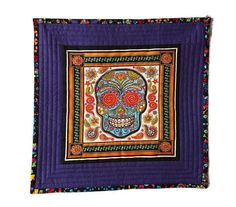 Sugar Skull Quilt Mexican Quilt Day of the Dead Decor