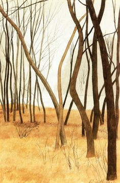 B-sides — dappledwithshadow: Trees, Leon Spilliaert, s.d.