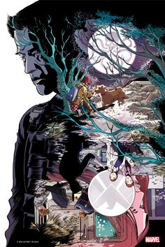 """Here's the Marvel's #AgentsofSHIELD: #TheArtofLevel7 print for """"Ragtag."""" Learn more about the piece: http://abc.tv/1fC29x4"""