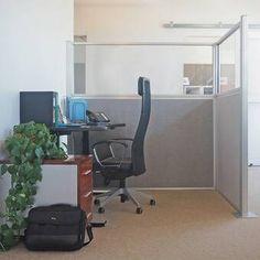 Versare Hush Configurable Cubicle Partition 1 Panel Size: H x W, Color: Cloud Gray Office Interior Design, Office Interiors, Office Cubicle Design, Cubicle Partitions, Office Partitions, Freestanding Room Divider, Portable Partitions, 4 Panel Room Divider, Privacy Panels