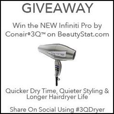 Preview, How It Works: Conair Infiniti Pro 3Q Hair Blow Dryer - #3QDryer Quick, Quality & Quiet - Best Brushless | BeautyStat.com