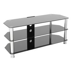 Bring an update to your home with this product. Manufactured with tempered glass, it is really durable and never out of date. 2 Drawer Tv Stand, Tv Rack, Glass Tv Stand, Newhaven, Safety Glass, Modern Glass, Tv Cabinets, Glass Shelves, Black Glass