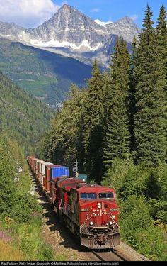 Canadian Pacific Railway GE AC4400CW at Revelstoke, British Columbia, Canada   ..rh