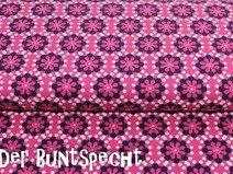 """Jersey-Stoff  """"Blumen""""  pink"""
