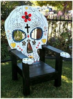 Sugar Skull Lawn Chair
