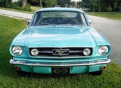 If I ever own this my life will be complete...Tropical Turquoise Classic Ford Mustang