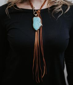 One of the gorgeous new turquoise pieces in. Turquoise on one side, engraved on the other. We just have one so DM to purchase. Leather Jewelry, Jewelry Box, Jewelry Making, Diy Jewelry, Tassel Necklace, Turquoise Necklace, Pendant Necklace, Necklaces, Best Friend Gifts