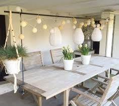 Afbeeldingsresultaat voor vt wonen lampjes boven tuintafel