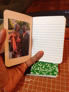 Mini notebook w photo for gifts to delegates