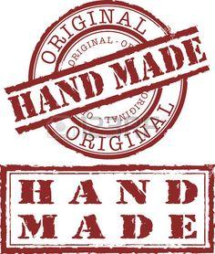 "Sello ""hecho a mano"" Hand Made, Original. Foto de archivo."