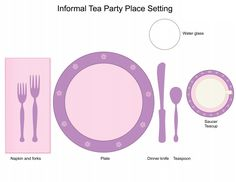 Casual tea party table