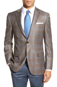 Classic Fit Plaid Wool #SportCoat #Mensclothing