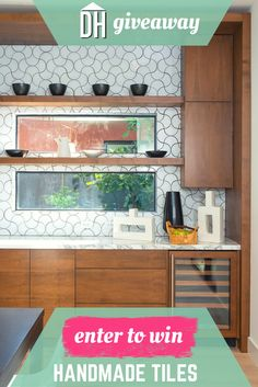 Enter for a chance to win free modern tiles for your backsplash! >> http://blog.hgtv.com/design/2015/04/23/diy-mothers-day-projects-mom-will-love/?soc=pinterest