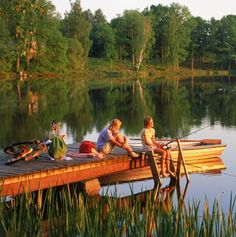 Sooo Swedish ....we visited friends at their lake house and swam off a dock that looked just like this.......