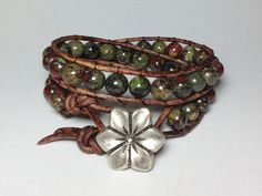Dragon Blood Jasper Double Wrap Bracelet on by DesignsByJen1, $37.00