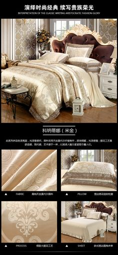 Luxury Jacquard Bedding Set King Queen Size 4pcs Bed Linen Silk Cotton Duvet Cover Lace Satin Bed Sheet Set Pillowcases 25 HTB1iNUcPXXXXXXEXXXXq6xXFXXXh HTB1iNUcPXXXXXXEXXXXq6xXFXXXh Bed Sheets Online, Cheap Bed Sheets, Bedding Sets Online, Queen Bedding Sets, Luxury Bedding Sets, Comforter Sets, Satin Bedding, Linen Bedding, Bed Linens