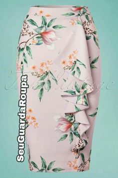 Jahre Lilly Floral Bleistiftrock in Flieder African Fashion Dresses, Fashion Outfits, Womens Fashion, Beautiful Outfits, Cute Outfits, Stretch Dress, Work Attire, Dress Patterns, Dress Skirt