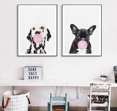 Cute Dog Modern French Bulldog Animals Poster And Dalmatian Canvas Painting Print Picture Home Wall Art Decoration Wall Sticker Canvas Poster, Canvas Art Prints, Painting Prints, Poster Prints, French Bulldog Art, French Bulldog Gifts, Home Wall Art, Wall Art Decor, Bubble Wall