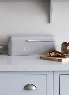 This Pebble Bread Bin with hinged lid and seal, is a great way to keep your bread fresh while still looking stylish enough to pop on your kitchen counter. From Garden Trading