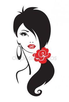 Скачать - Черно-белая иллюстрация изящной женщины — стоковая иллюстрация #60535565