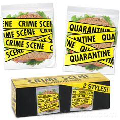 crime scene sandwich bags, I know somebody that need those bags ;)
